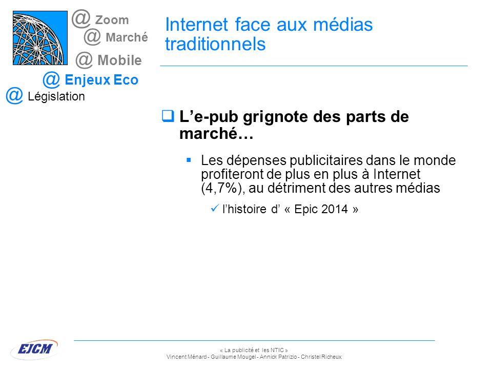 « La publicité et les NTIC » Vincent Ménard - Guillaume Mougel - Annick Patrizio - Christel Richeux @ Zoom @ Marché @ Mobile @ Enjeux Eco @ Législatio