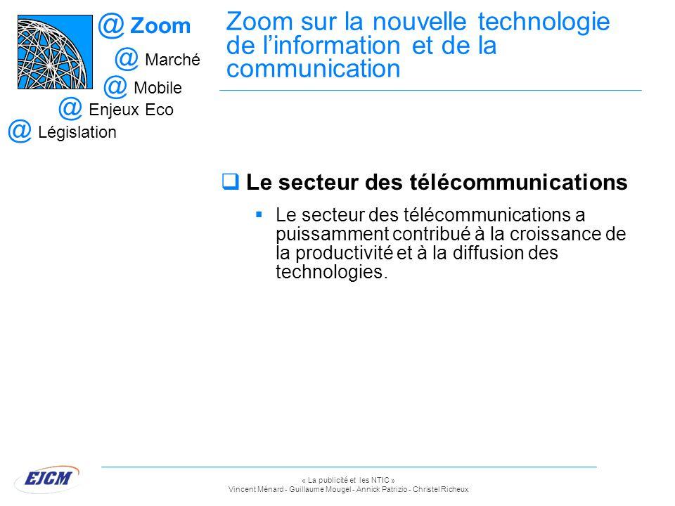« La publicité et les NTIC » Vincent Ménard - Guillaume Mougel - Annick Patrizio - Christel Richeux Zoom sur la nouvelle technologie de linformation e