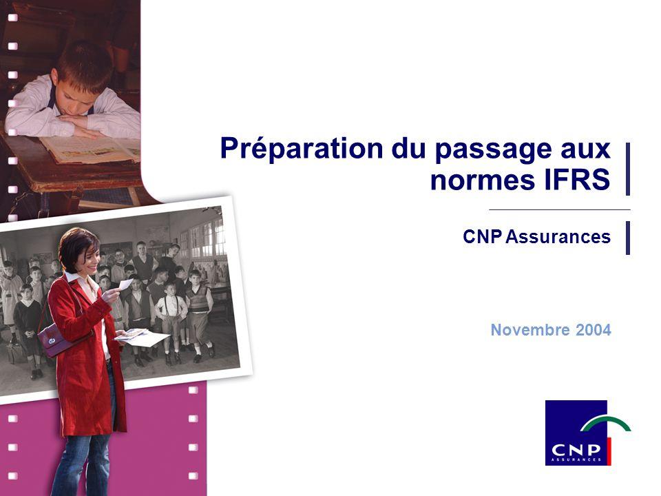 2 CNP Assurances - Novembre 2004 SOMMAIRE IFRS : quels changements .