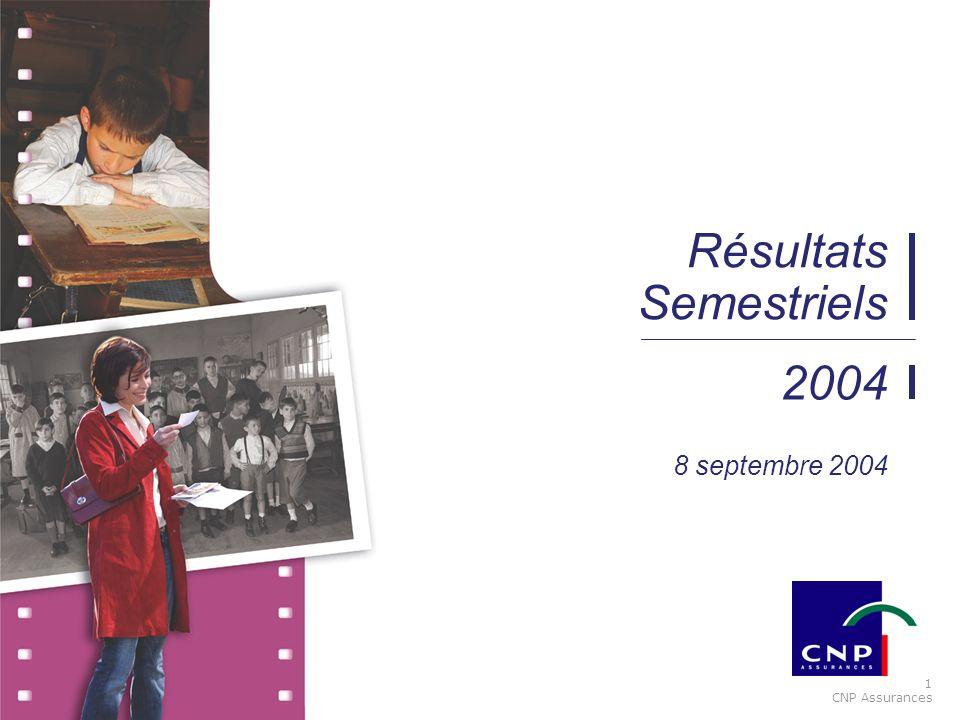 1 CNP Assurances 2004 Résultats Semestriels 8 septembre 2004