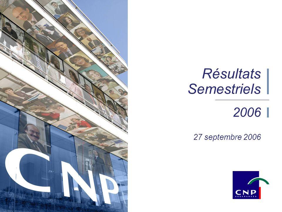 1 2006 27 septembre 2006 Résultats Semestriels