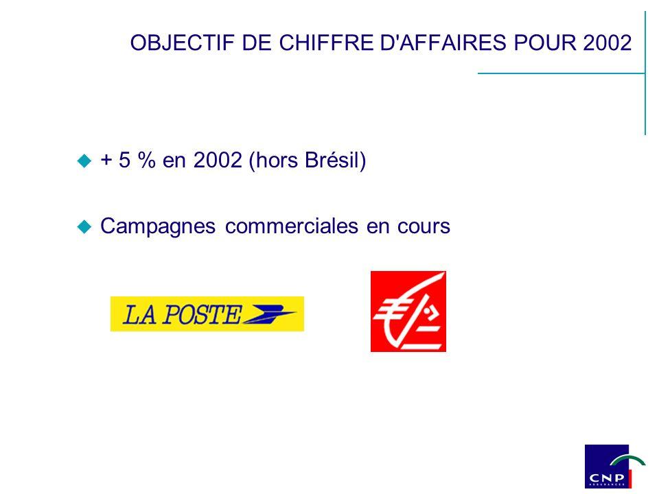 OBJECTIF DE CHIFFRE D'AFFAIRES POUR 2002 + 5 % en 2002 (hors Brésil) Campagnes commerciales en cours