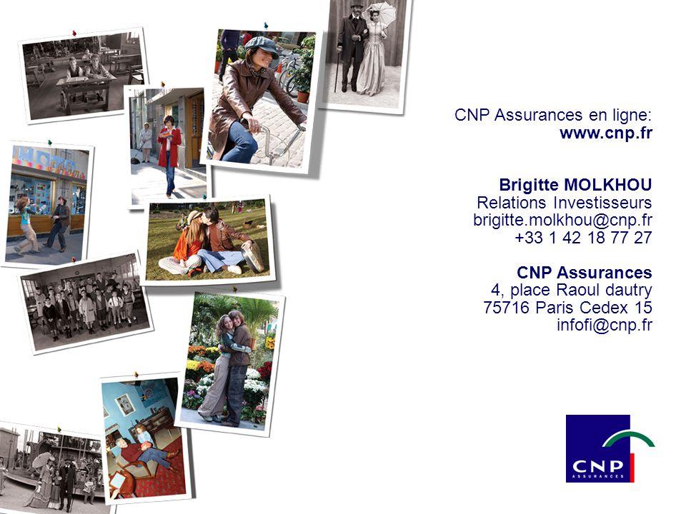 31 20 mars 2003 CNP Assurances en ligne: www.cnp.fr Brigitte MOLKHOU Relations Investisseurs brigitte.molkhou@cnp.fr +33 1 42 18 77 27 CNP Assurances 4, place Raoul dautry 75716 Paris Cedex 15 infofi@cnp.fr