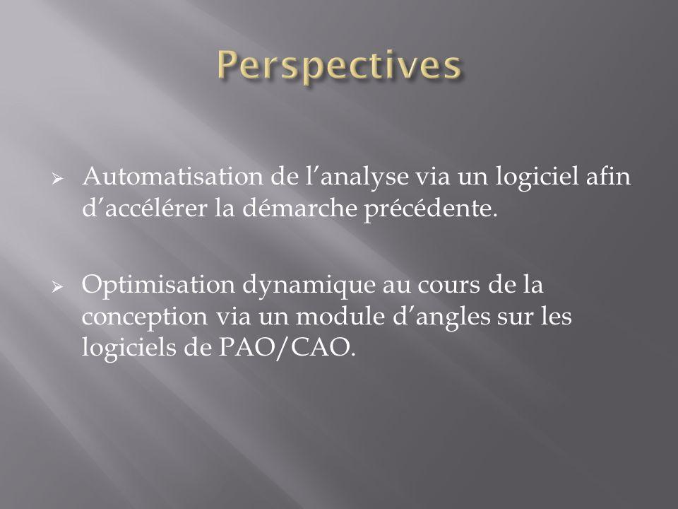 Automatisation de lanalyse via un logiciel afin daccélérer la démarche précédente.