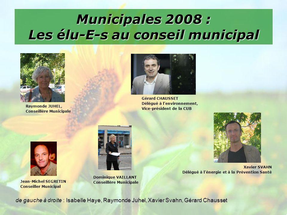 Municipales 2008 : Un projet éco citoyen pour Mérignac Le rôle dune ville est incontournable, car elle est au cœur du quotidien et notre quotidien ne peut plus ignorer les changements qui sannoncent.