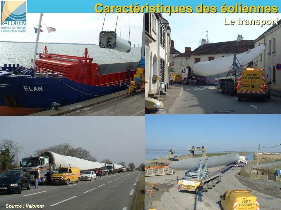 6 6 Caractéristiques des éoliennes Le transport Source : Valorem