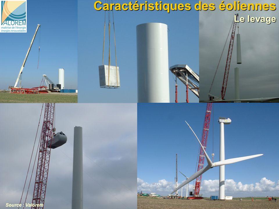 7 Caractéristiques des éoliennes Le levage 7 Source : Valorem
