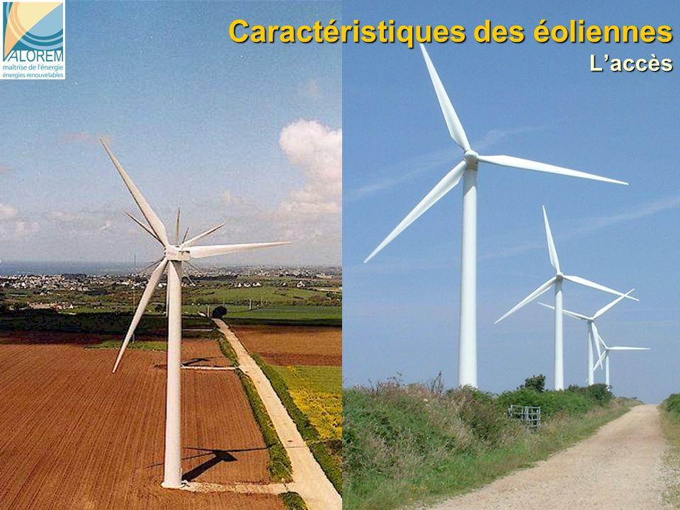 8 Caractéristiques des éoliennes Laccès