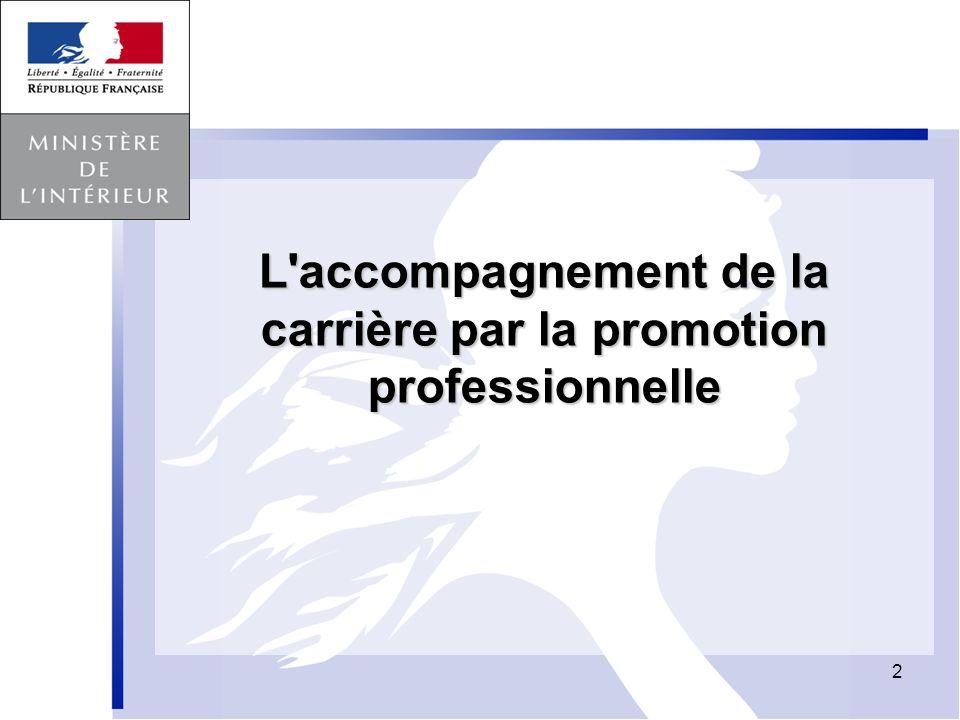 2 L'accompagnement de la carrière par la promotion professionnelle