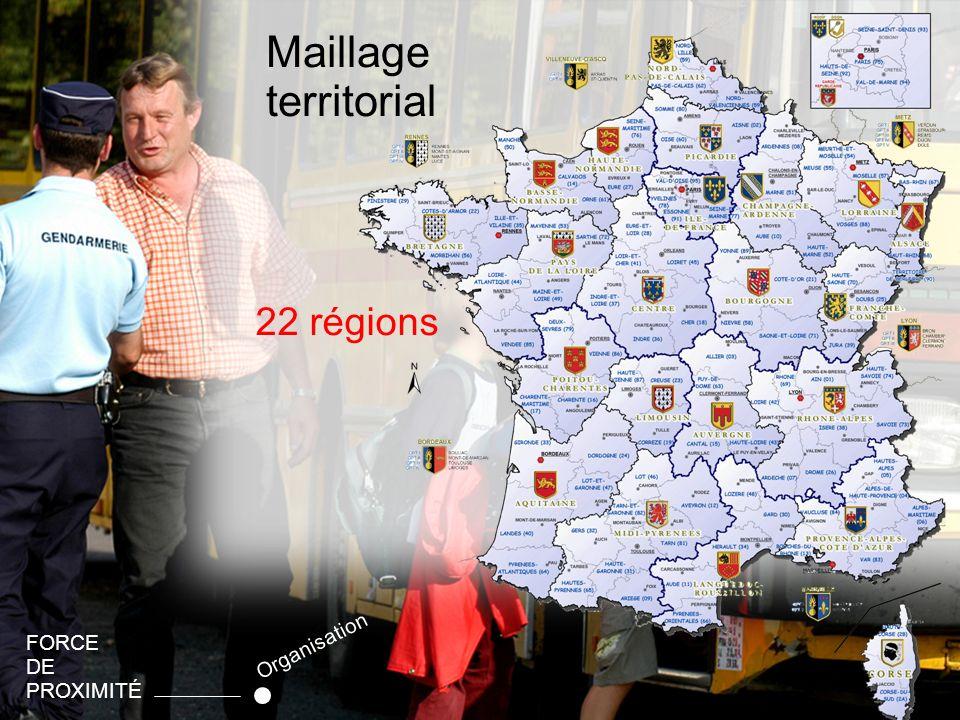 10 Maillage territorial FORCE DE PROXIMITÉ Organisation 22 régions