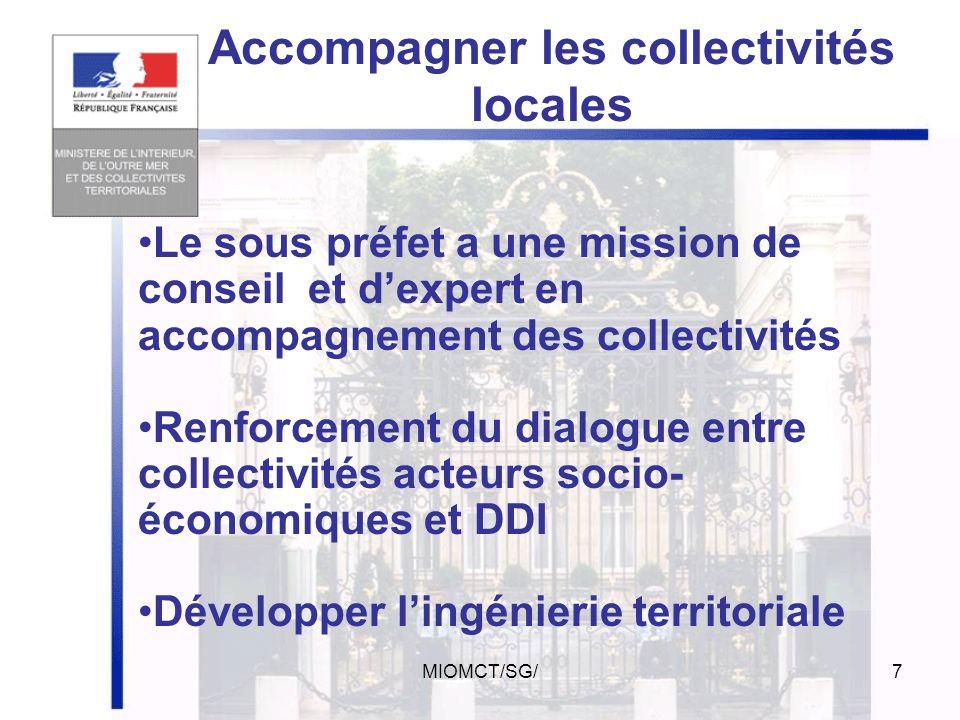 MIOMCT/SG/6 Le préfet de région a autorité fonctionnelle sur le préfet de département Coordination interministérielle et finances de lÉtat (A léchelon