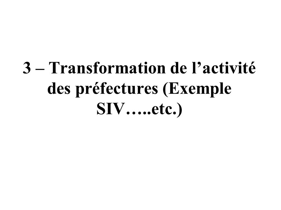2 - Linterministérialité le préfet de département animateur du réseau interministériel