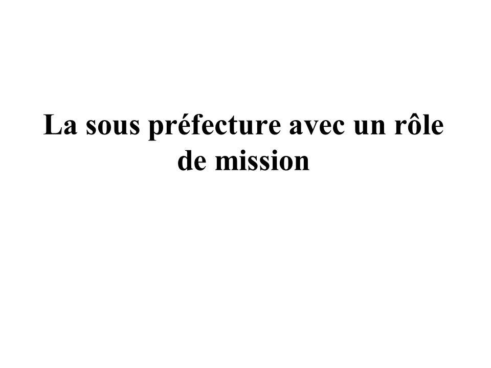 RENOVATION DES MISSIONS 1.Représentation territoriale de lÉtat autour dun sous préfet 2.Des missions relatives à limmigration et à lintégration 3.LÉme