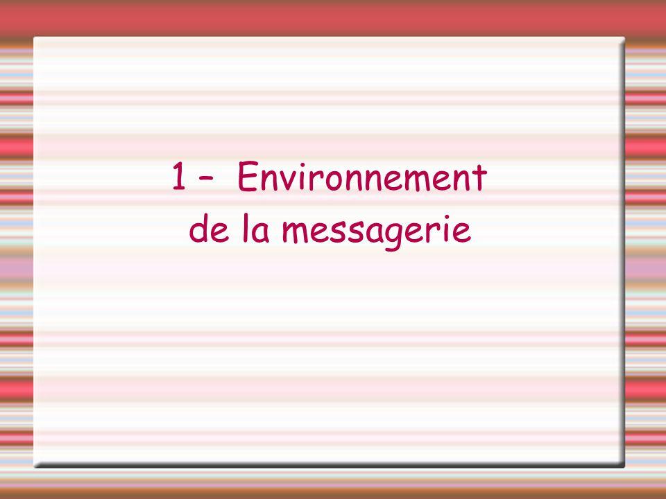 1 – Environnement de la messagerie
