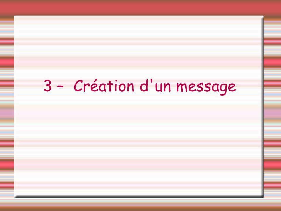 3 – Création d'un message