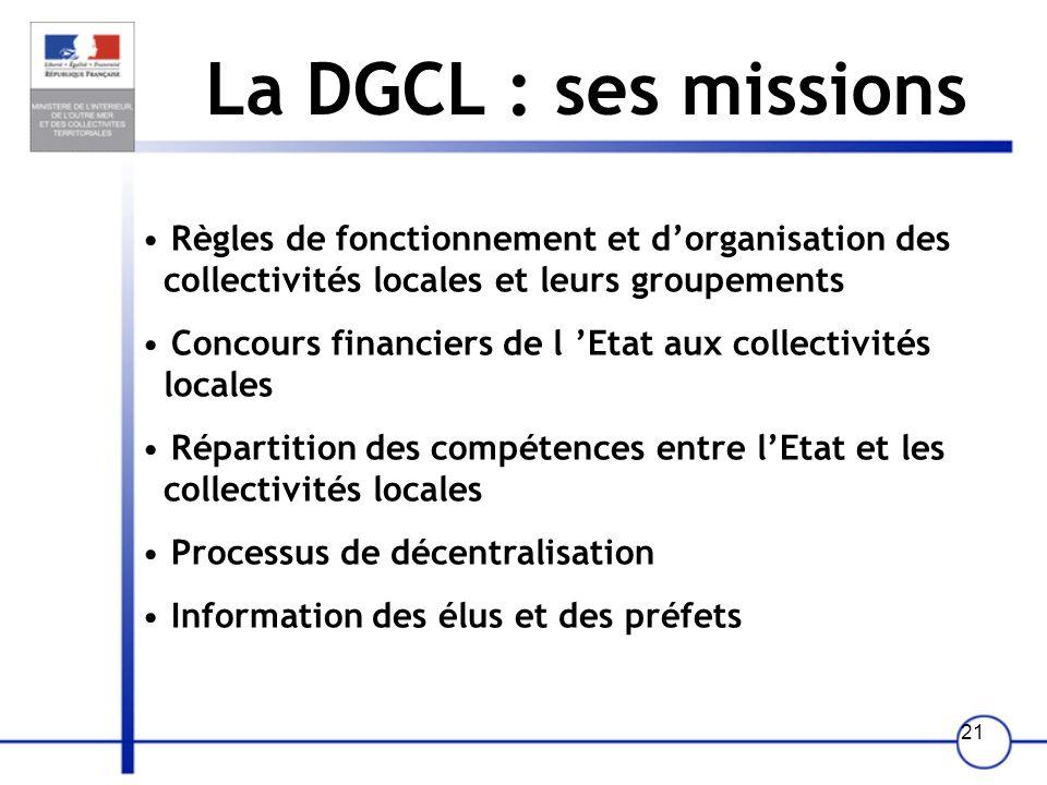 20 La DGGN : ses missions -Sécurité publique et prévention de la délinquance - Secours et assistance aux populations (sauvetage en mer, montagne…) - P