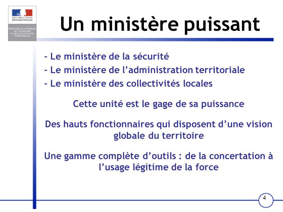 44 Ladministration territoriale La police nationale La gendarmerie nationale