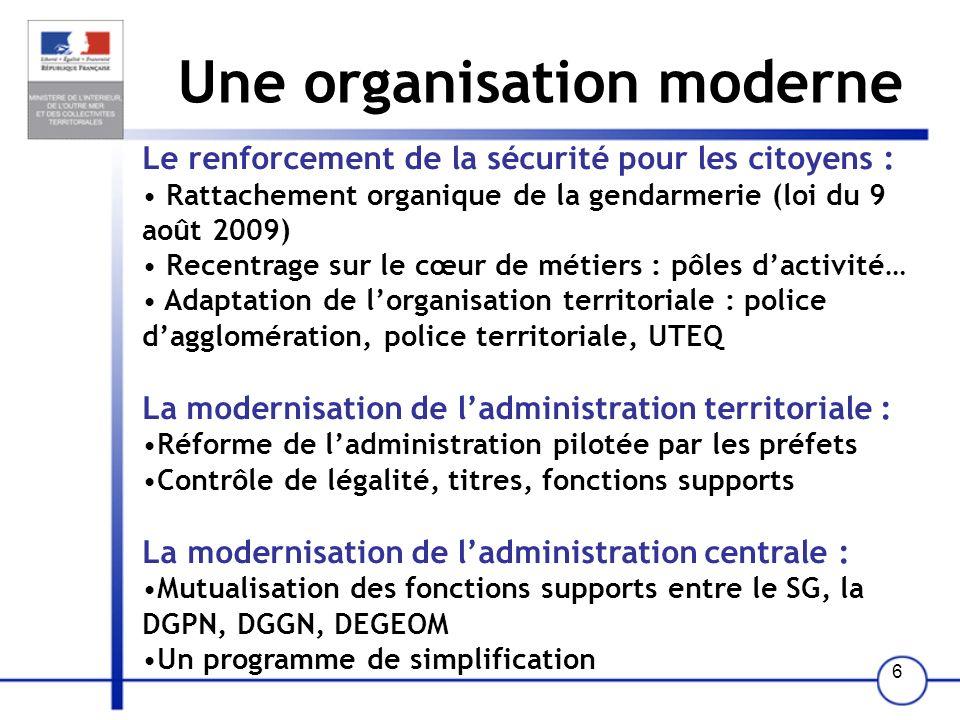 36 Schéma de lorganisation départementale à deux directions Pour mémoire : Police Gendarmerie DDSIS Unité territ.
