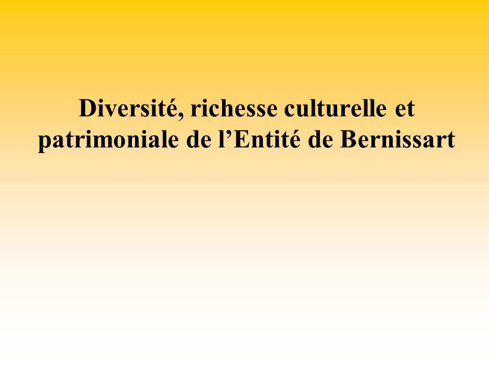 Diversité, richesse culturelle et patrimoniale de lEntité de Bernissart