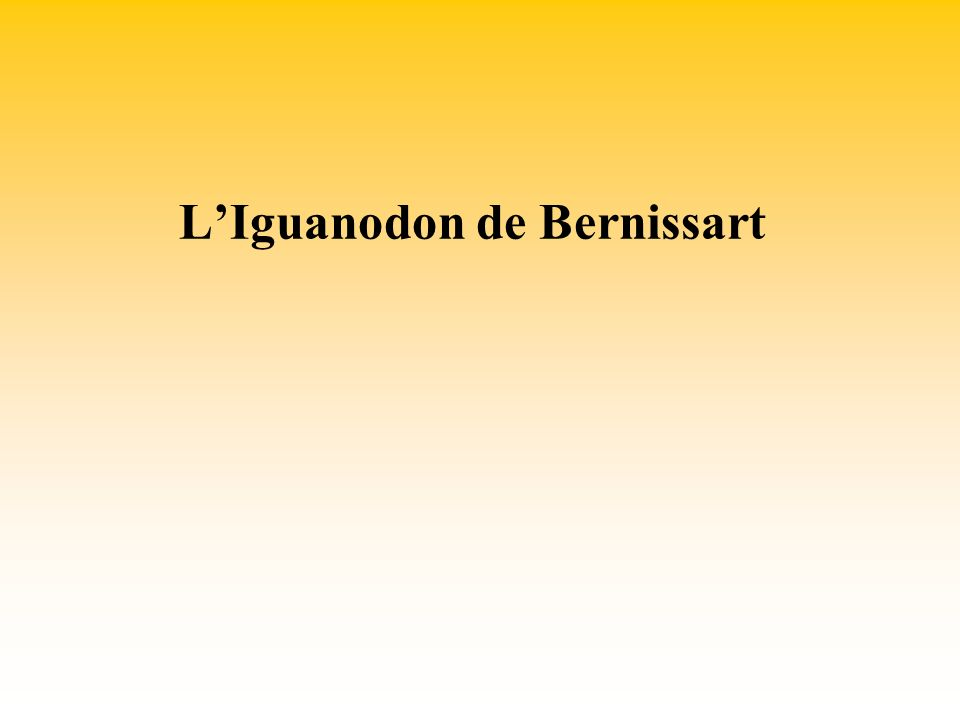 LIguanodon de Bernissart