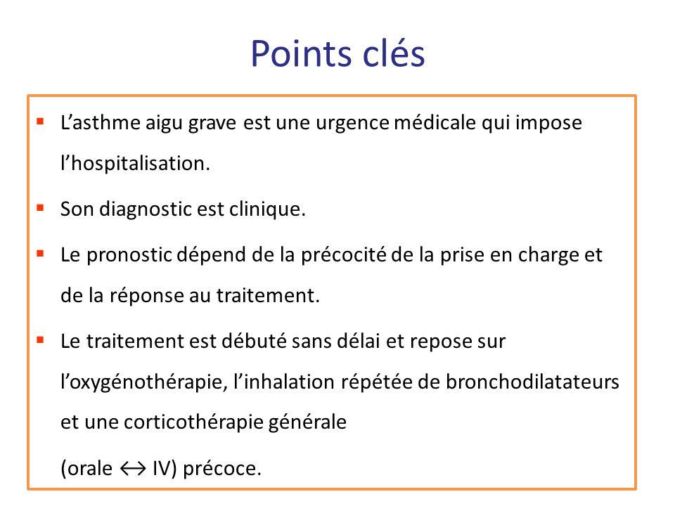 Points clés Lasthme aigu grave est une urgence médicale qui impose lhospitalisation. Son diagnostic est clinique. Le pronostic dépend de la précocité