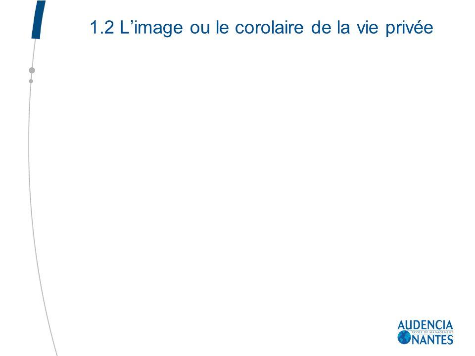 1.2 Limage ou le corolaire de la vie privée