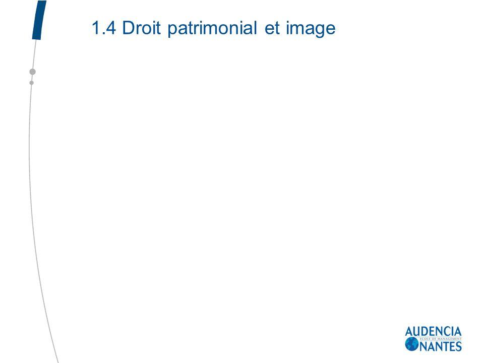 1.4 Droit patrimonial et image