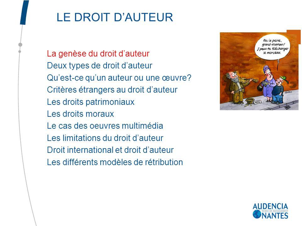 7.3 Les limitations liées au versement dune rémunération Il sagit de faciliter les activités des utilisateurs sans priver les auteurs de leurs droits.