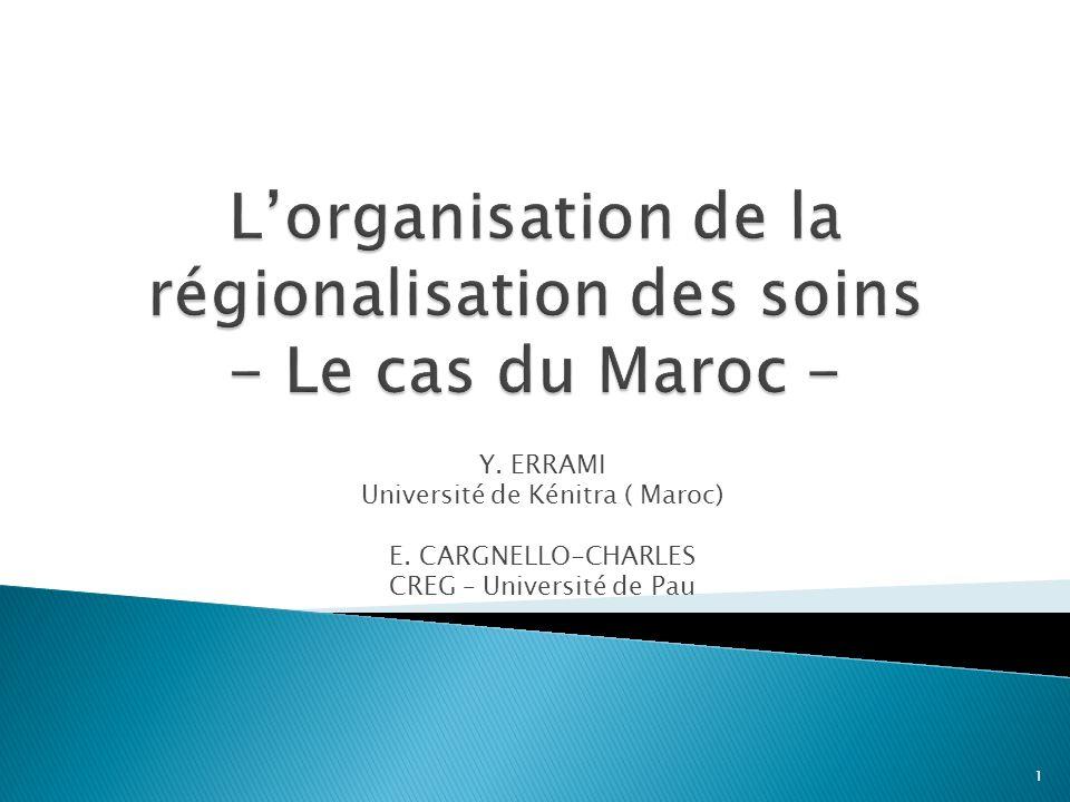 I – Introduction : le contexte II - La réforme sanitaire au Maroc III - Létude de terrain et les constats 2