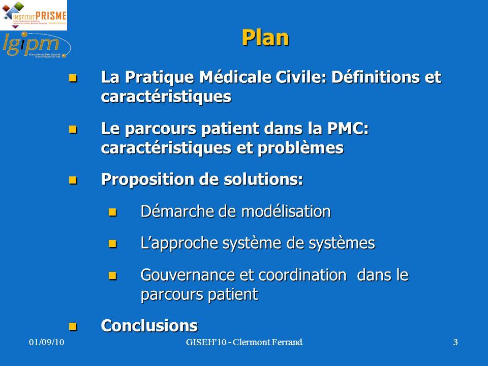 Plan La Pratique Médicale Civile: Définitions et caractéristiques La Pratique Médicale Civile: Définitions et caractéristiques Le parcours patient dan