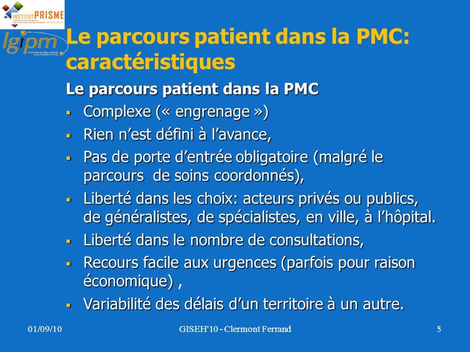 Le parcours patient dans la PMC: caractéristiques Leparcours patient dans la PMC Le parcours patient dans la PMC Complexe (« engrenage ») Complexe («
