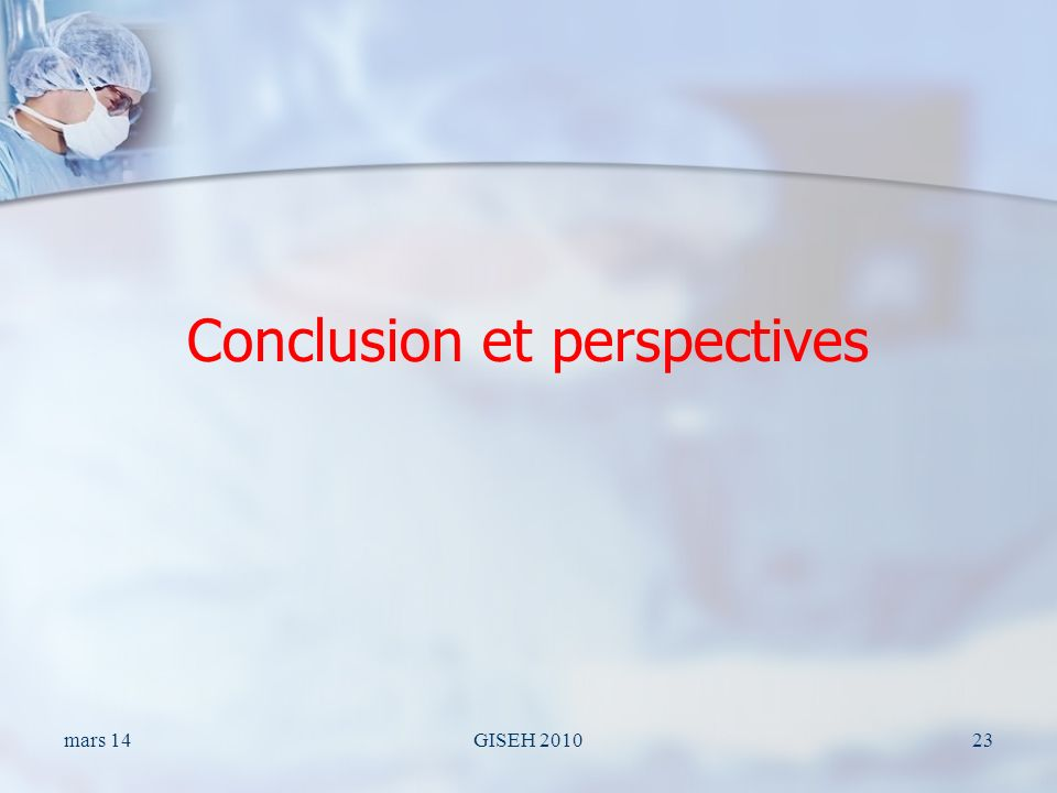 Conclusion et perspectives mars 14GISEH 201023