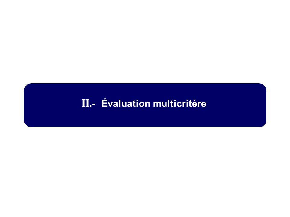 II.- Évaluation multicritère