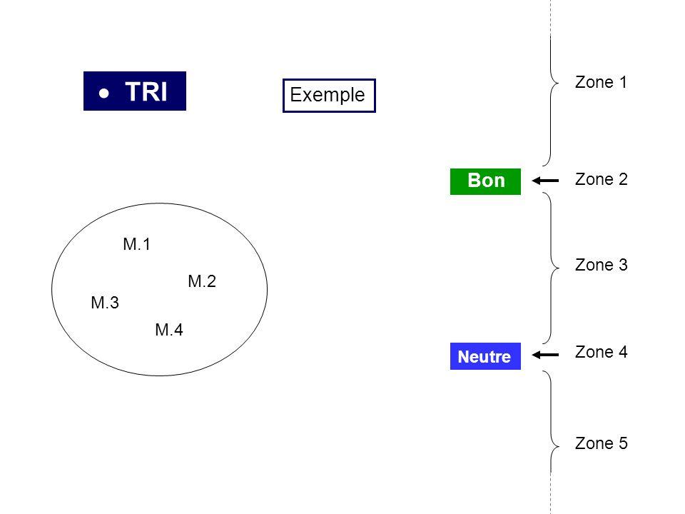 TRI Neutre Bon Zone 2 Zone 3 Zone 4 Zone 5 Zone 1 Exemple M.1 M.2 M.3 M.4
