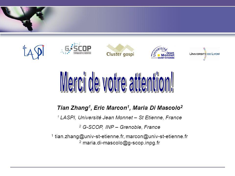 Tian Zhang 1, Eric Marcon 1, Maria Di Mascolo 2 1 LASPI, Université Jean Monnet – St Etienne, France 2 G-SCOP, INP – Grenoble, France 1 tian.zhang@uni