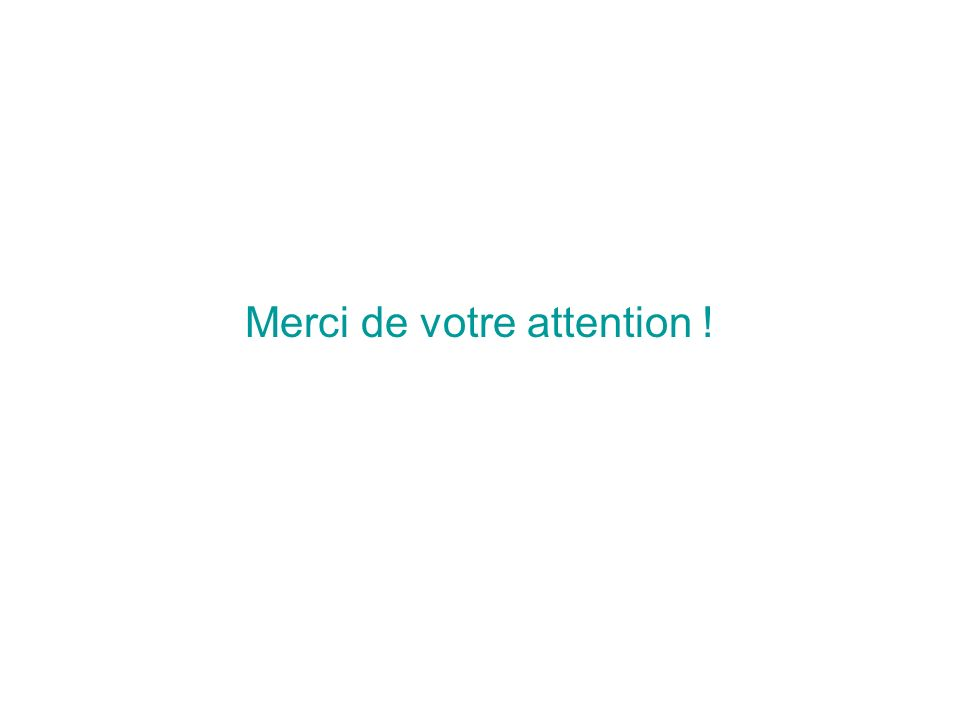 22 Merci de votre attention !