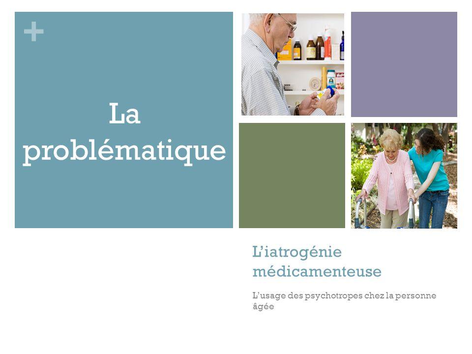 + Liatrogénie médicamenteuse Lusage des psychotropes chez la personne âgée La problématique