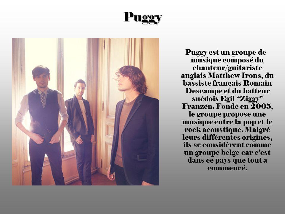 Puggy Puggy est un groupe de musique composé du chanteur/guitariste anglais Matthew Irons, du bassiste français Romain Descampe et du batteur suédois Egil Ziggy Franzén.