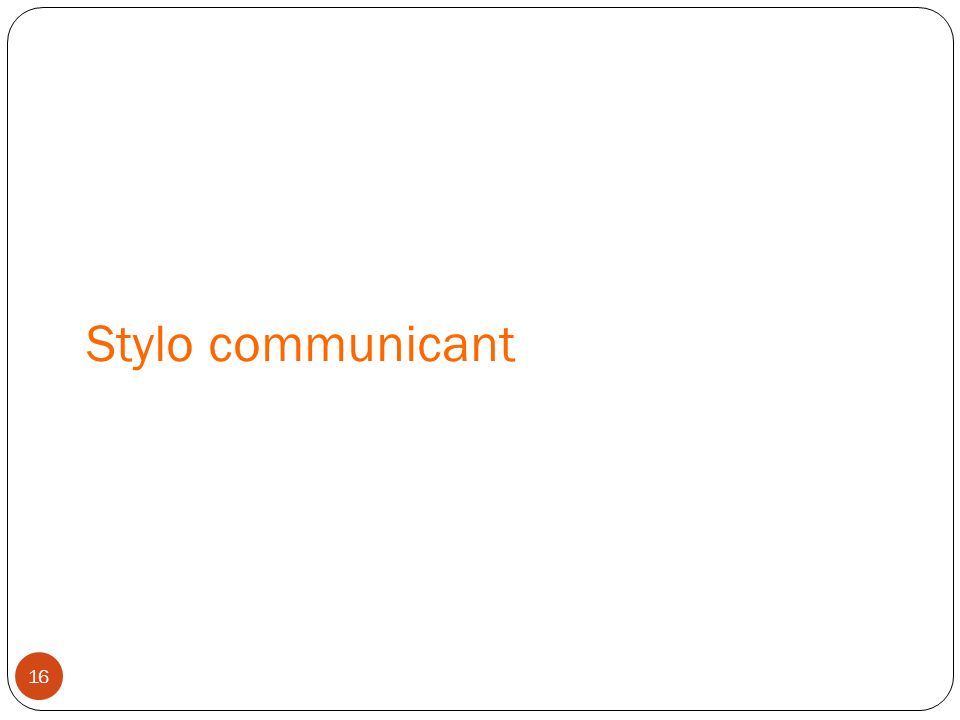 Stylo communicant 16