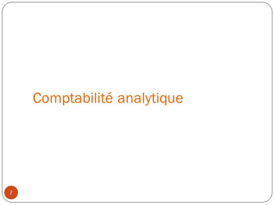 Comptabilité analytique 7