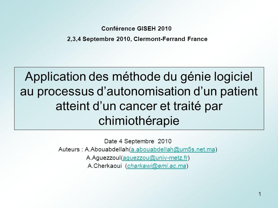 32 Coopération Hiérarchie Responsabilité Problèmes de confiance dans lorganisation Aspects de communication M odélisation du processus dautonomisation du patient(20).