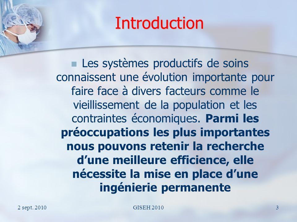 2 sept.2010GISEH 20104 Plan de lexposé 1. Introduction 2.