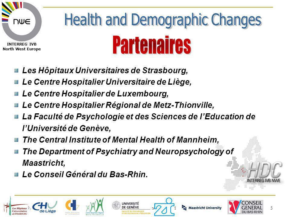 03/09/2010 GISEH 2010, Clermont-Ferrand 36 INTERREG IVB North West Europe La vieillesse affaiblit tous nos sens.
