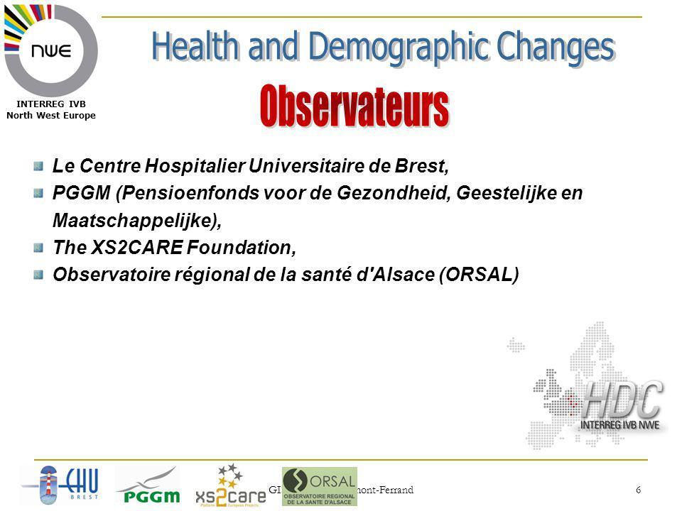 03/09/2010 GISEH 2010, Clermont-Ferrand 17 INTERREG IVB North West Europe WP3 WP1 WP2