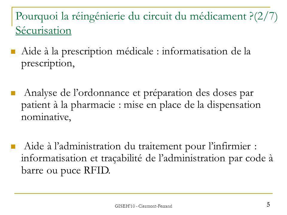 Aide à la prescription médicale : informatisation de la prescription, Analyse de lordonnance et préparation des doses par patient à la pharmacie : mis