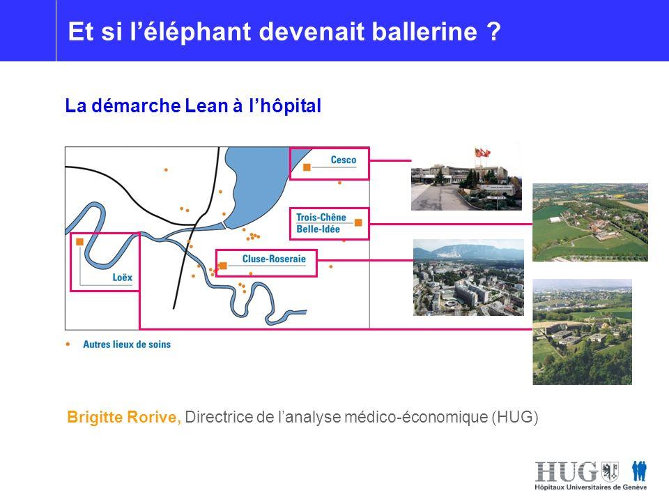 Brigitte Rorive, Directrice de lanalyse médico-économique (HUG) Et si léléphant devenait ballerine ? La démarche Lean à lhôpital