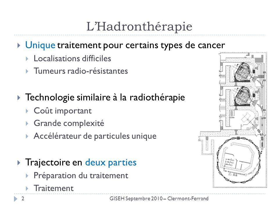 LHadronthérapie Unique traitement pour certains types de cancer Localisations difficiles Tumeurs radio-résistantes Technologie similaire à la radiothé