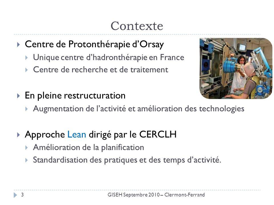 Contexte Centre de Protonthérapie dOrsay Unique centre dhadronthérapie en France Centre de recherche et de traitement En pleine restructuration Augmen