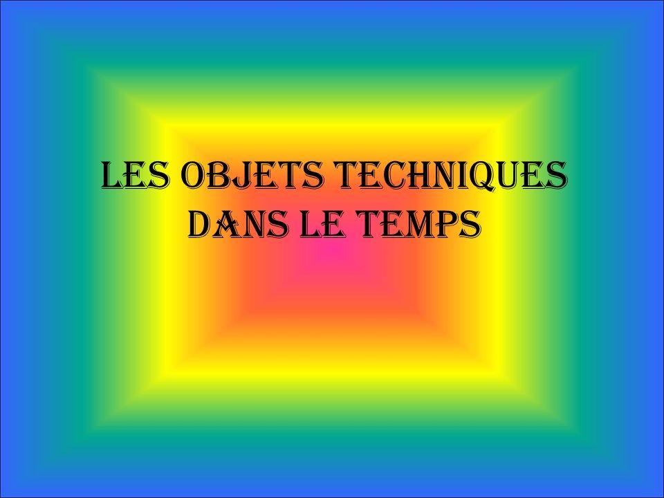 Les objets techniques dans le temps