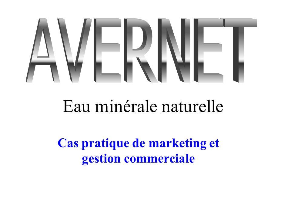 Eau minérale naturelle Cas pratique de marketing et gestion commerciale